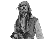 Johnny Depp, Jack Sparrow on Stranger Tides