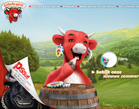 Web design for La Vache qui rit (The Laughing Cow)