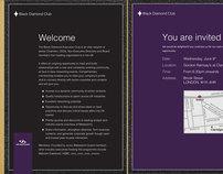 Black Diamond Club Concepts & Invitation