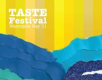 A5 Flyer and branding for Taste Festival