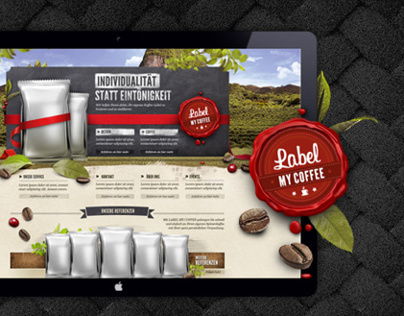 Logodesign & Webdesign: Label my Coffee