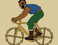 Historical and pop culture characters on modified bikes