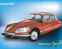 Citroen DS vector illustration