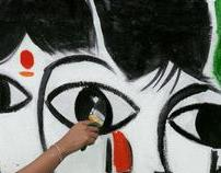 Wall Painting for Eye Donation Camp