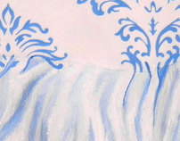 Blue Damask No. 5