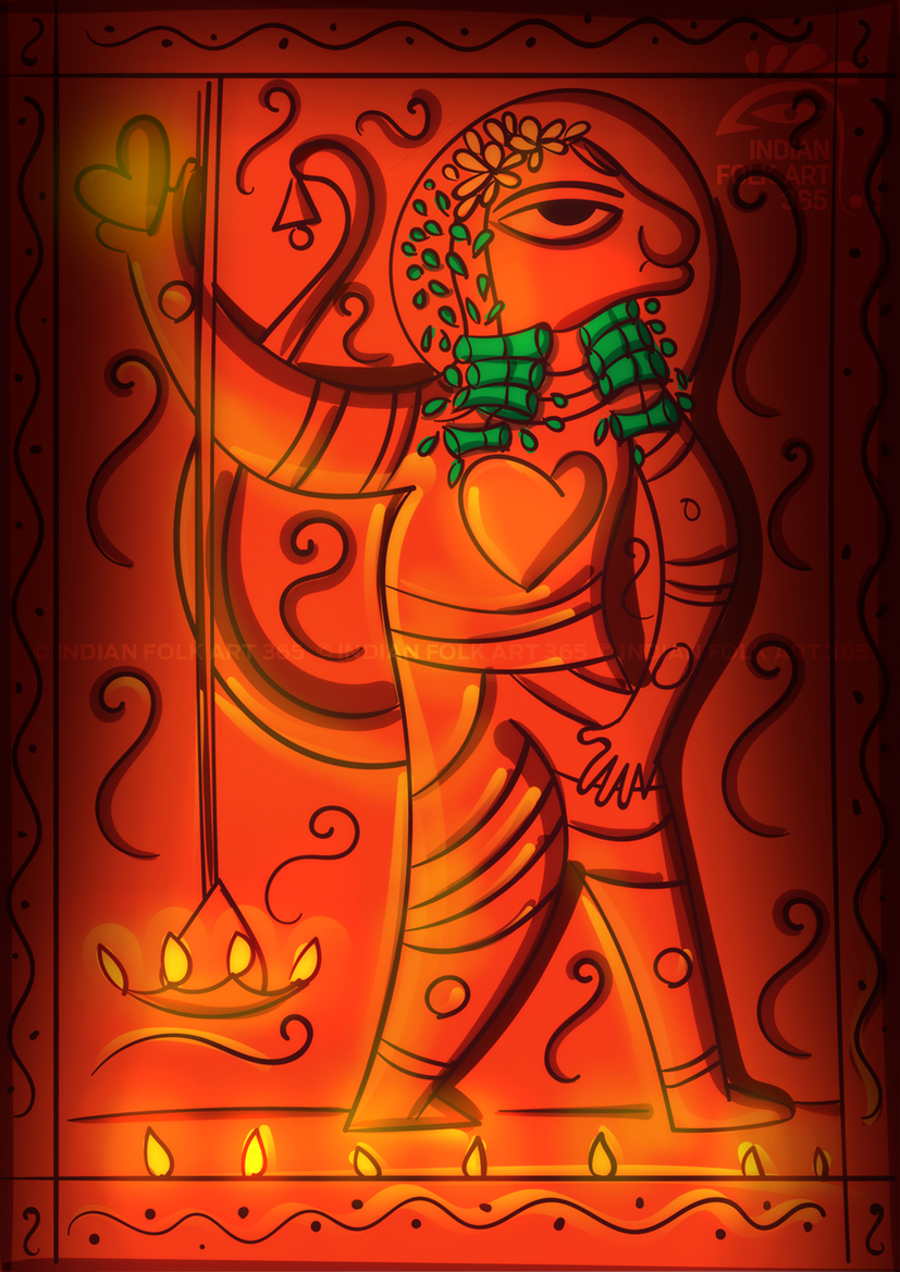 Bengal Patua  - Digital Indian Folk Art
