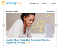 Blog design for Lumosity.com