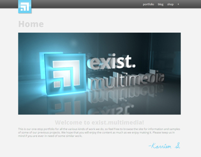 exist.multimedia: Site Re-Design
