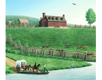 Historical interpretive painting: Geo Washingtons Farm