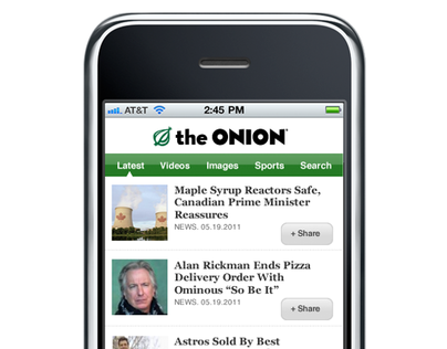 The Onion: Mobile Website