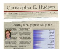 Christopher E. Hudson Resume  Indesign/Photoshop CS 5.5