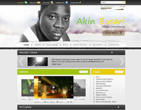 AkinMusic.com SIte Design