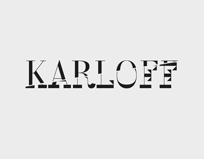 KARLOFF - animated typeface