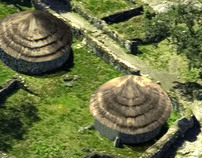 Digital reconstruction of a prehistoric village