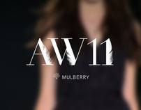 Mulberry - Autumn / Winter 2011 typography