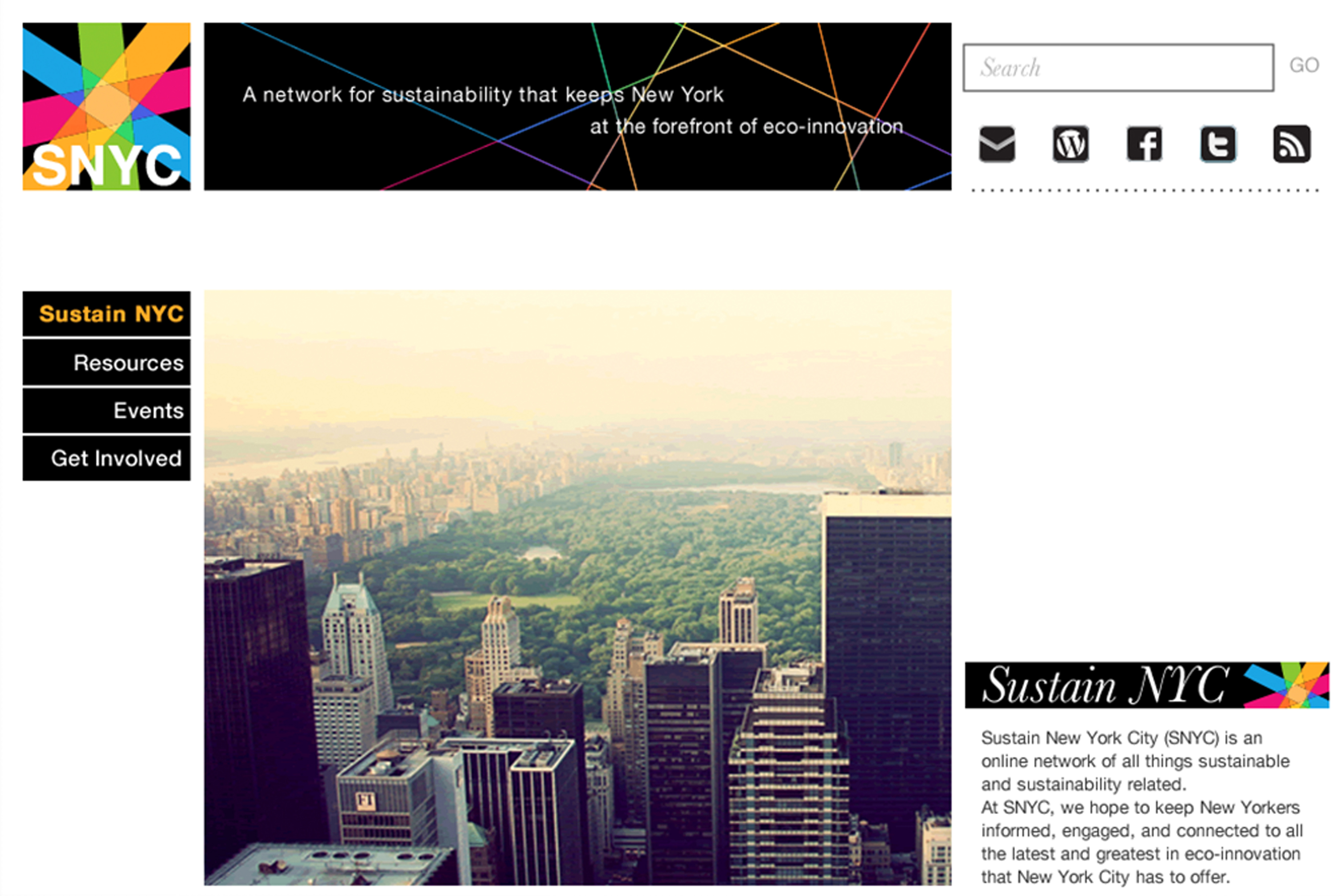 Website Design: Sustain New York City