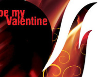 promotion from Burn - postcard «be my Valntine»