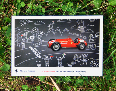 Museo Ferrari 2011 - Childrens tour postcard