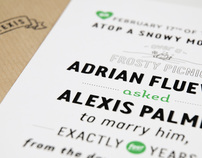 Adrian & Alexis Wedding invite