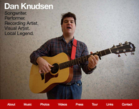 Dan Knudsen website design