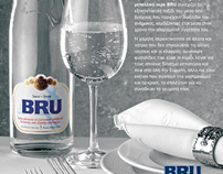 SPA water, BRU sparkling water