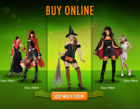 HalloweenCity.com Homepage Design