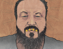 Ai Wei Wei portrait // Flamingo Magazine issue2.