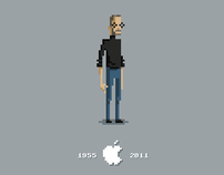 Steve Jobs Pixel Tribute