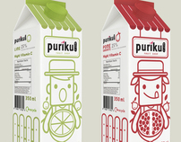 PURIKU [ Juice Packaging Design ] : work student