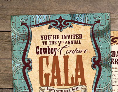 Cowboy Couture Invitation