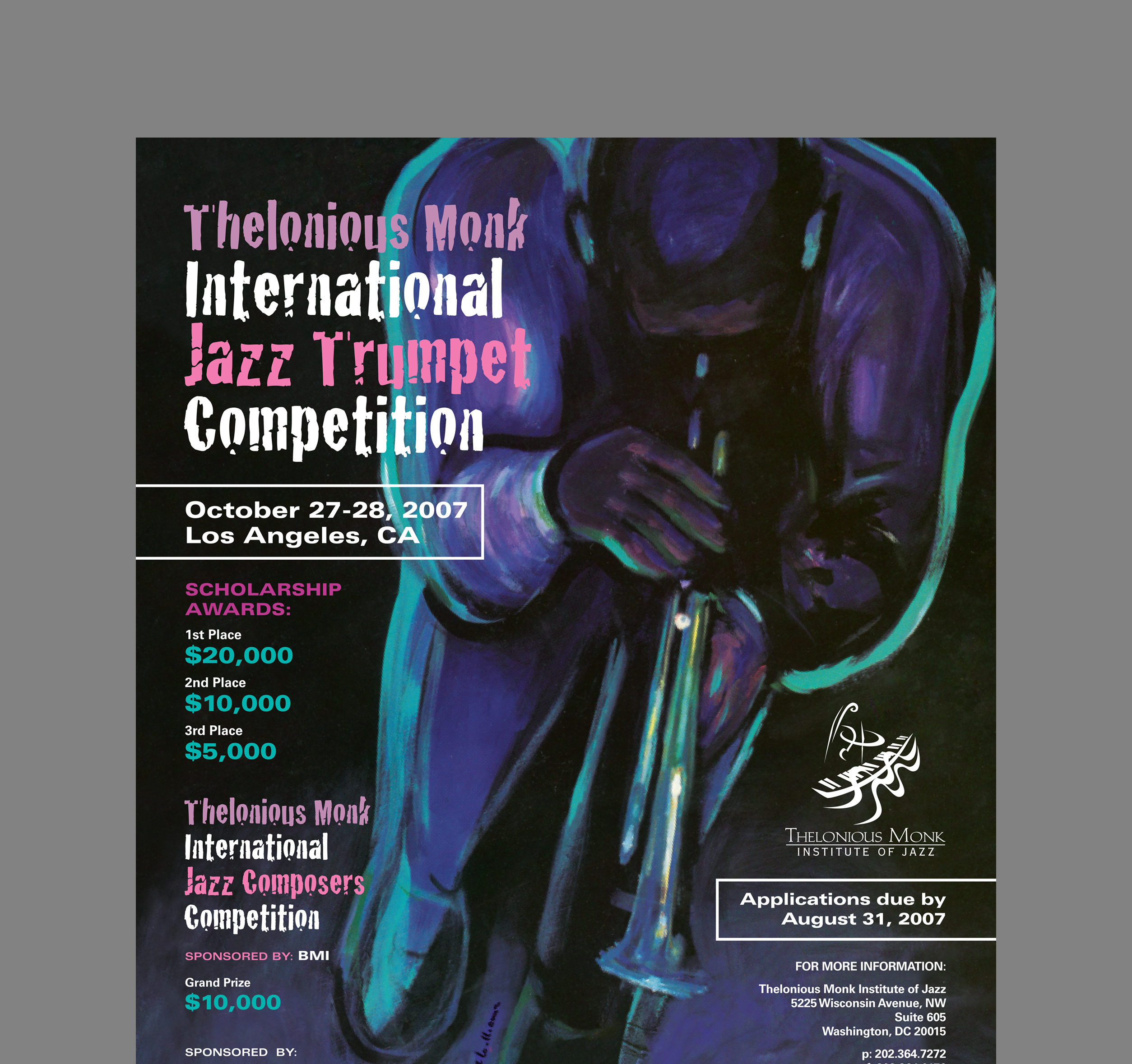 2007 Thelonious Monk jazz trumpet competition ad