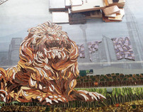 Mosaic Art - The Lion