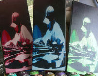 spray paint on canvas art - turntablist full project