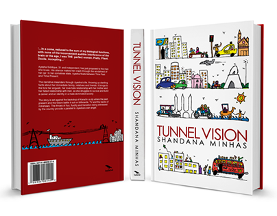 Illustrated Book Jacket Design : Tunnel Vision