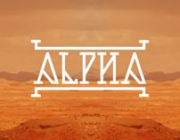 Alpha typeface