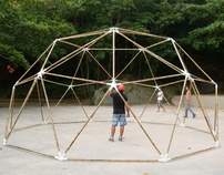 Bamboo geodesic dome at Girl from Ipanema Park