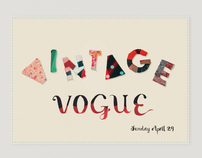 Vintage Vogue Fashion Fair