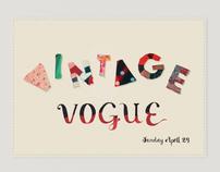 Vintage Vogue Fashion Fair