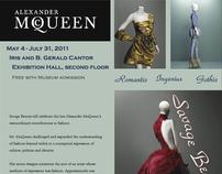 Alexander McQueen Savage Beauty Exhibit Poster