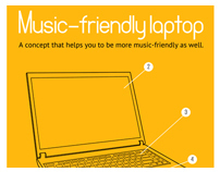 Music-friendly laptop