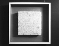 White square in a white frame
