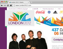 2012 Olympic Web Design