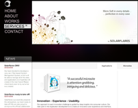 Website Design - Solarflares  2009