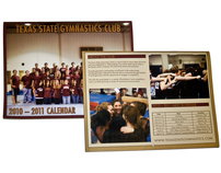 Texas State Gymnastics Club Calendar