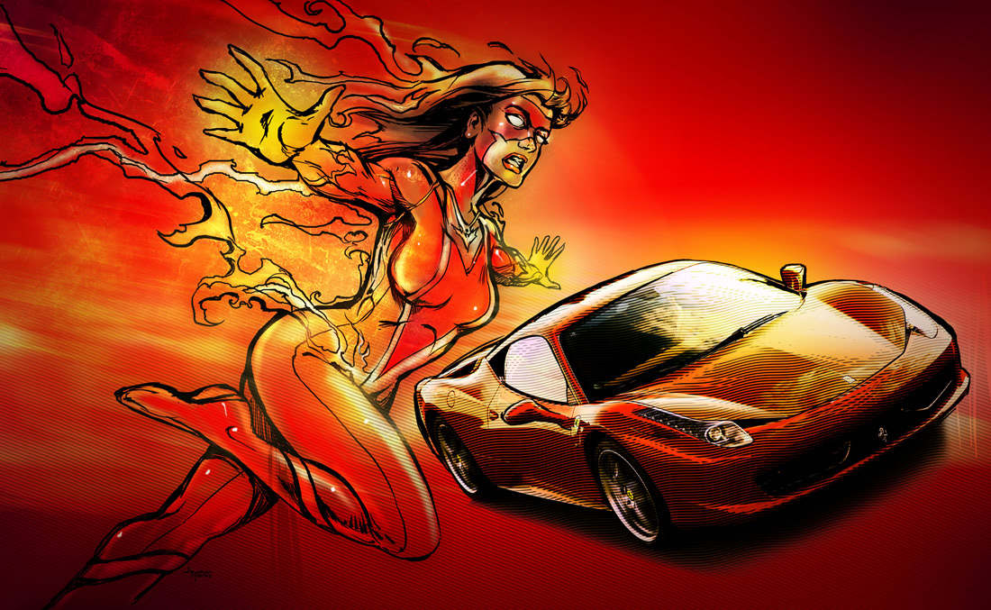 Car Middle East Magazine Illustrations