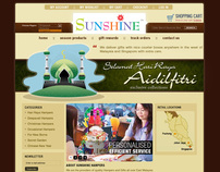 [ SUNSHINE HAMPERS ] e-commerce web design