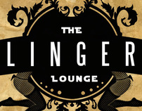 The Linger Lounge logo design