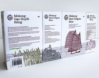 Mekong Red Dragon Rice Packaging