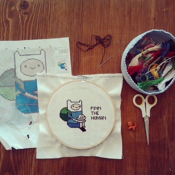 cross stitch works