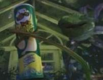 Pringles, animated plants eating pringles.